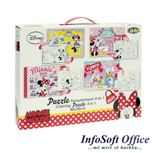 Dks Pazell ngjyrues 2ane, 4n1 30x40, 48 cope, Minnie 3+